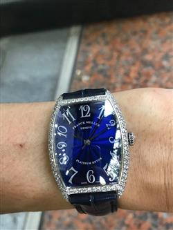 Franck Muller automatic vàng trắng 18k diamond option